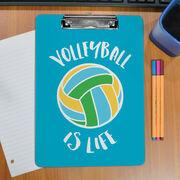 Volleyball Custom Clipboard Volleyball Is Life