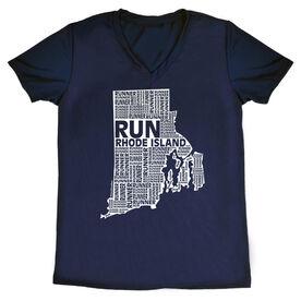 Women's Running Short Sleeve Tech Tee Rhode Island State Runner