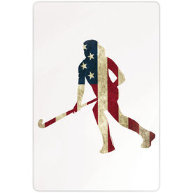 "Field Hockey 18"" X 12"" Aluminum Room Sign - Play For The USA"