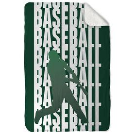 Baseball Sherpa Fleece Blanket Fade