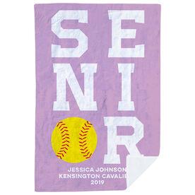 Softball Premium Blanket - Personalized Senior