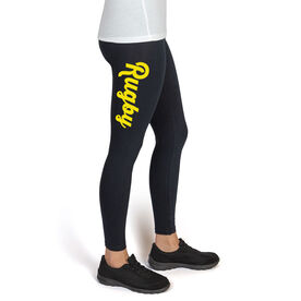 Rugby High Print Leggings Script