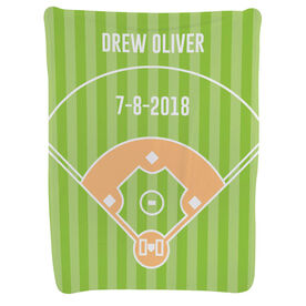 Baseball Baby Blanket - Field
