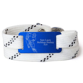 Adjustable Hockey Lace Bracelet With Slider - Personalized Player