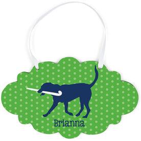 Field Hockey Cloud Sign - Personalized Fetch The Field Hockey Dog