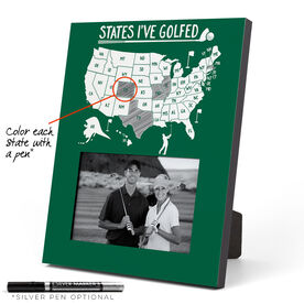Golf Photo Frame - States I've Golfed