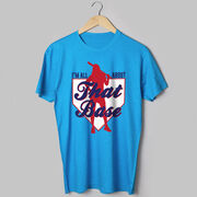 Softball Tshirt Short Sleeve I'm All About That Base