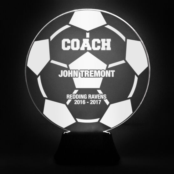 Soccer Acrylic LED Lamp Soccer Ball Coach With 3 Lines