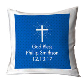 Personalized Throw Pillow - God Bless Him