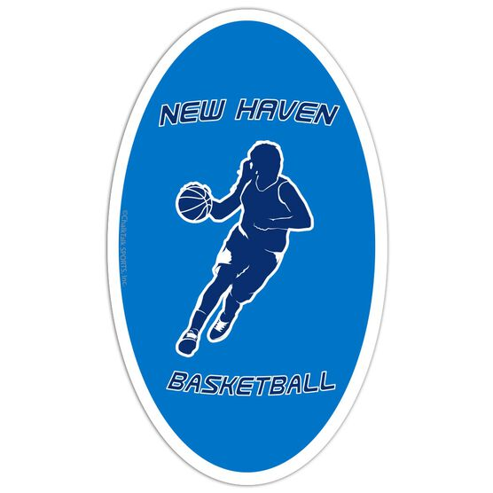 Basketball Oval Car Magnet Personalized  Basketball  Girl