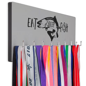 Fly Fishing Hook Board Eat Sleep Fish