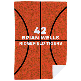 Basketball Premium Blanket - Personalized Texture