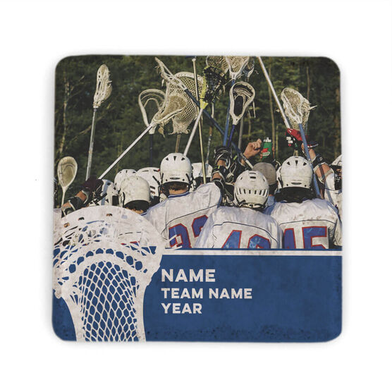 Guys Lacrosse Stone Coaster - Team Photo with Stick