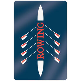 "Crew 18"" X 12"" Aluminum Room Sign - Rowing Boat"