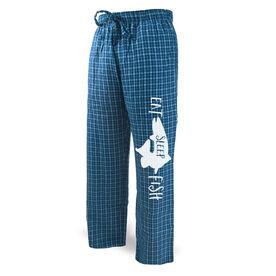 Fly Fishing Lounge Pants Eat Sleep Fish
