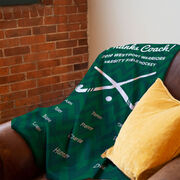 Field Hockey Premium Blanket - Personalized Thanks Coach Chevron