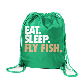 Fly Fishing Sport Pack Cinch Sack Eat. Sleep. Fly Fish.