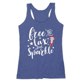 Girls Lacrosse Women's Everyday Tank Top - Free To Lax and Sparkle