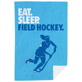 Field Hockey Premium Blanket - Eat. Sleep. Field Hockey. Vertical