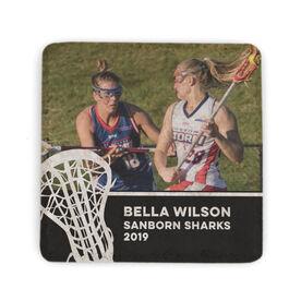 Girls Lacrosse Stone Coaster - Team Photo with Stick