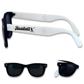Foldable Baseball Sunglasses Baseball Player Silhouette