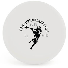 Personalized Lacrosse Ball - Player with Team Name (White Ball)