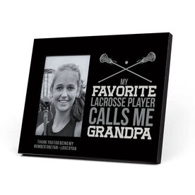 Girls Lacrosse Photo Frame - Grandpa