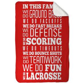Lacrosse Sherpa Fleece Blanket We Do Lacrosse
