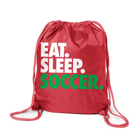 Soccer Sport Pack Cinch Sack Eat. Sleep. Soccer.