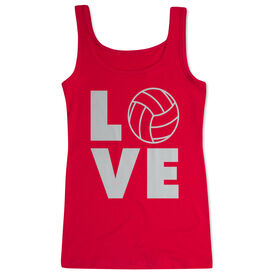 Volleyball Women's Athletic Tank Top - Volleyball Love