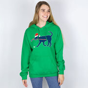 Hockey Hooded Sweatshirt - Christmas Dog