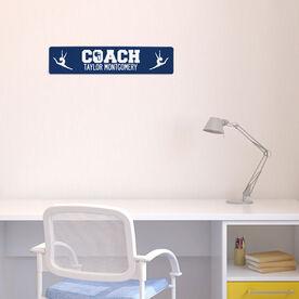 """Gymnastics Aluminum Room Sign - Gymnastics Coach (4""""x18"""")"""