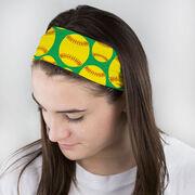Softball Multifunctional Headwear - Tossed Ball Pattern RokBAND