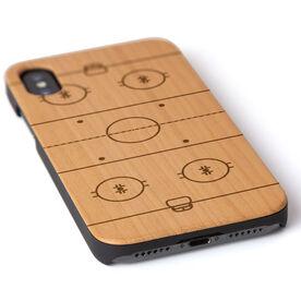 Hockey Engraved Wood IPhone® Case - Rink