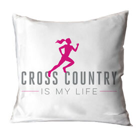 Cross Country Throw Pillow My Life (Female)