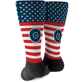 Wrestling Printed Mid-Calf Socks - USA Stars and Stripes
