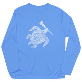 Girls Lacrosse Long Sleeve Performance Tee - Lax Turtle