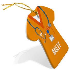 Personalized Porcelain Ornament - Nurse Scrubs