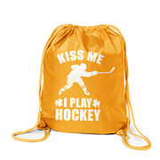 Hockey Sport Pack Cinch Sack Kiss Me I Play Hockey