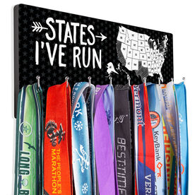 Running Hooked on Medals Hanger - Running the USA Map