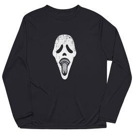 Guys Lacrosse Long Sleeve Performance Tee - Ghost Face