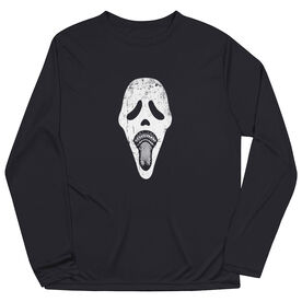 Guys Lacrosse Long Sleeve Performance Tee - Ghost Face