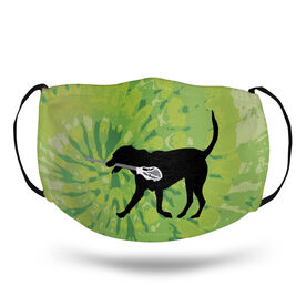 Guys Lacrosse Face Mask - Max the Lax Dog Tie-Dye