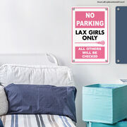 """Girls Lacrosse 18"""" X 12"""" Aluminum Room Sign Lax Girls Only"""