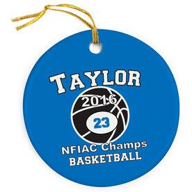 Basketball Porcelain Ornament Custom Basketball Team