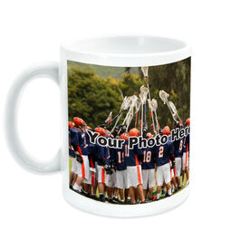 Lacrosse Coffee Mug Thanks Coach Custom Photo