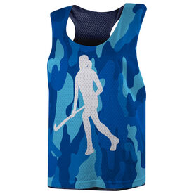 Field Hockey Racerback Pinnie - Camouflage Field Hockey Girl