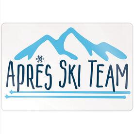 "Skiing 18"" X 12"" Aluminum Room Sign - Après Ski Team"