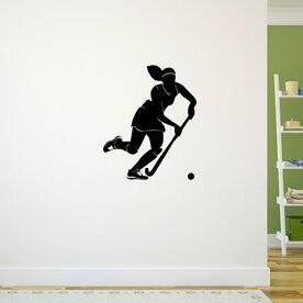 Field Hockey Girl Dribbling Removable ChalkTalkGraphix Wall Decal