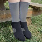 Baseball Printed Mid-Calf Socks - Eat Sleep Baseball
